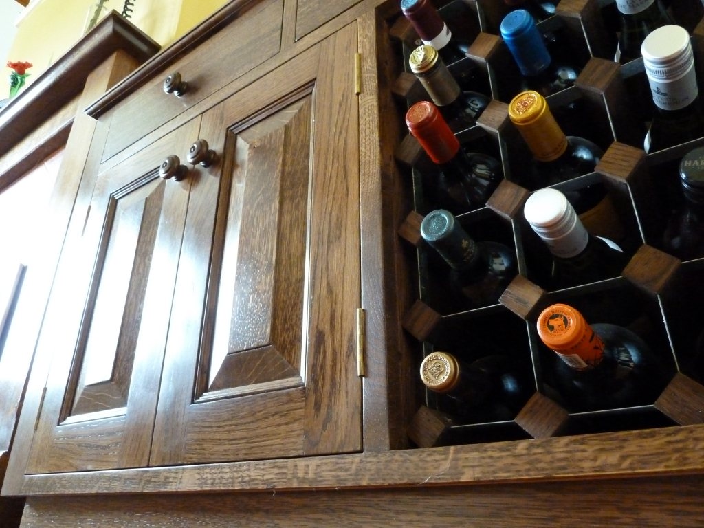 Bespoke cabinet and wine rack