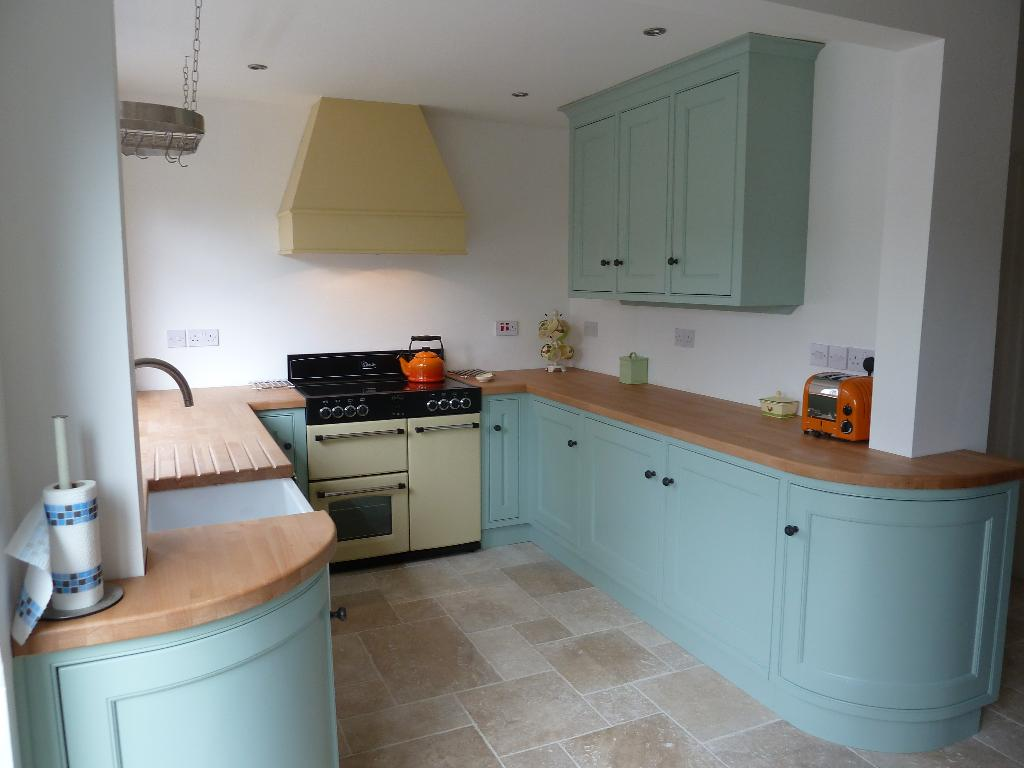 Country Kitchen Handpainted In Duck Egg Blue
